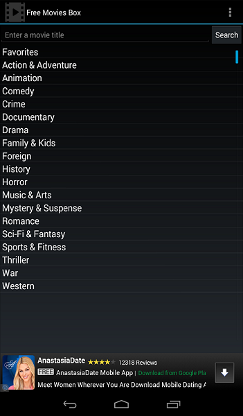Free Movies Box for Android 1.2.8 full